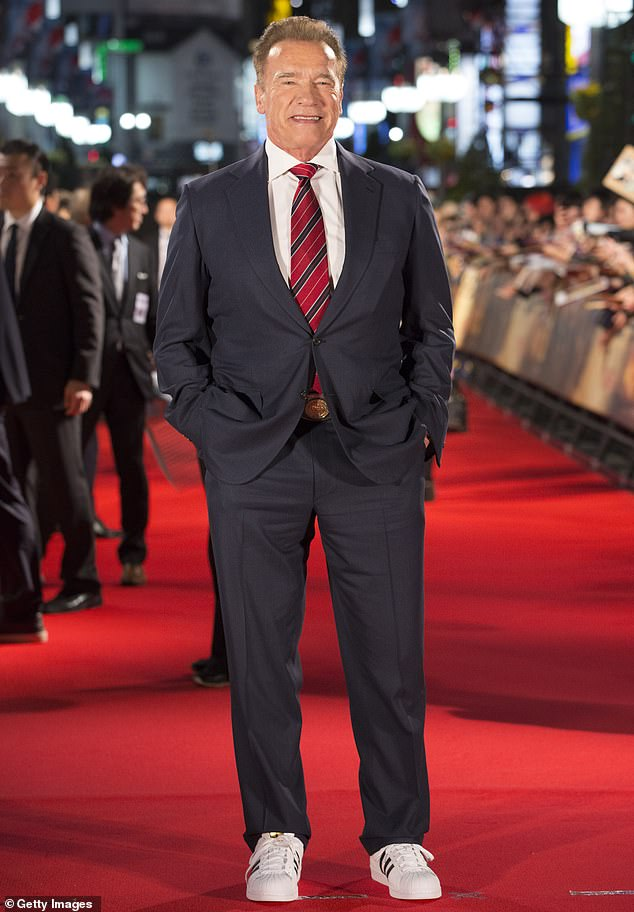 Arnold Schwarzenegger attends the Japan premiere of