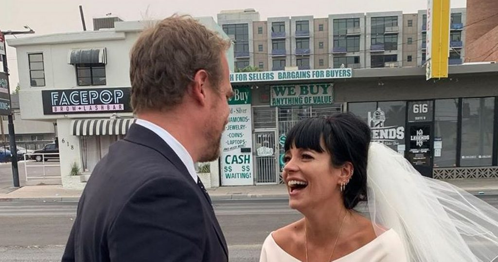Inside Lily Allen And David Harbour Vegas Wedding Elvis Burgers And Dior Dress The State