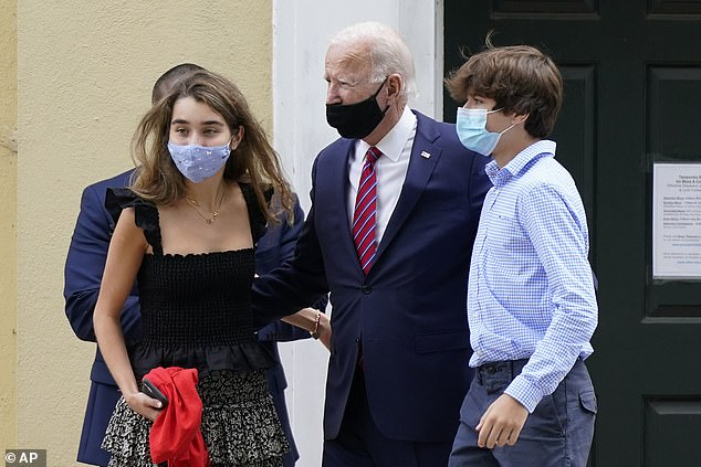 Joe Biden spent his Sunday attending his granddaughter