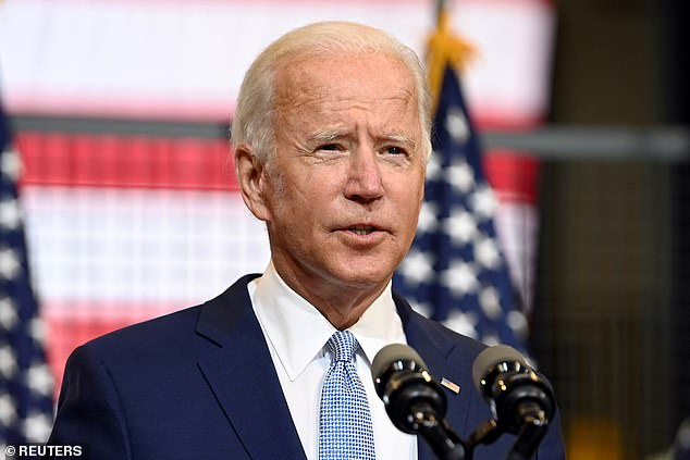 Former Vice President Joe Biden holds a49 to 45 lead in a new survey of six battleground states