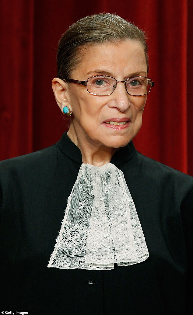 Ruth Bader Ginsburg, pictured above in 2009, served for almost 27 years on the highest court of the land and was the second woman to be appointed to the Supreme Court