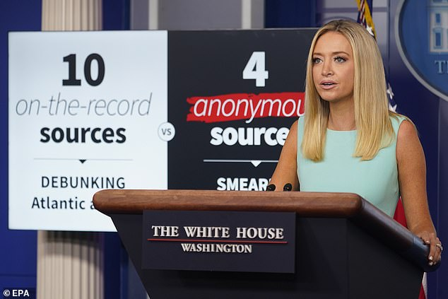 House Press Secretary Kayleigh McEnany blasted the media following a report that President Trump called fallen U.S. troops