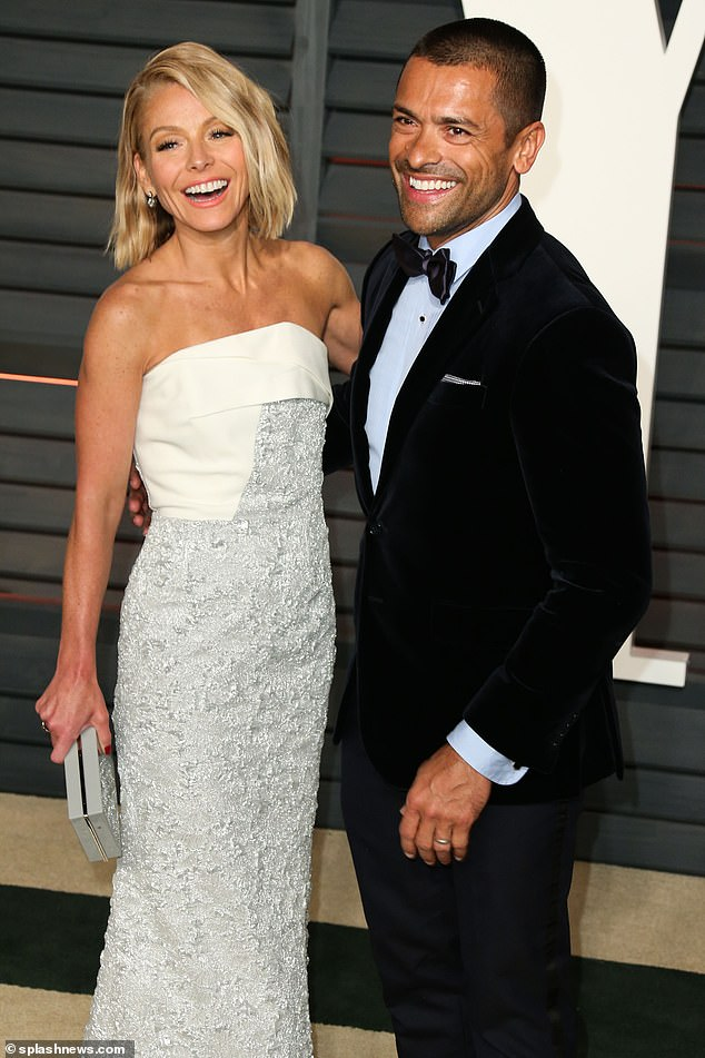 Helping others: Kelly Ripa and Mark Consuelos have provided scholarships to 20 homeless students in New York City. Seen in 2015