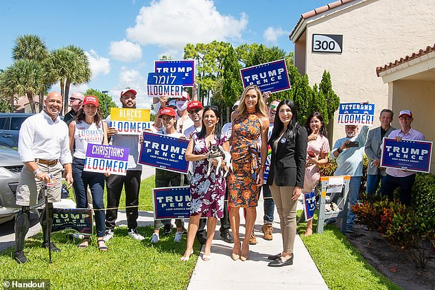 Congressional candidate Laura Loomer (R), campaigned with Trump daughter-in-law Lara Trump on Tuesday