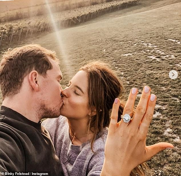 Binky Felstead is ENGAGED! Made In Chelsea star revealed on Sunday that beau Max Darnton had proposed to her on Friday after a 19 month romance