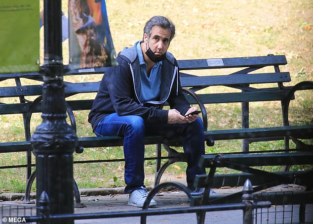 Michael Cohen steps out for stroll in Central Park while serving prison sentence at home