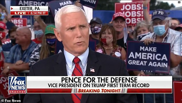 Vice President Mike Pence has said that he doesn
