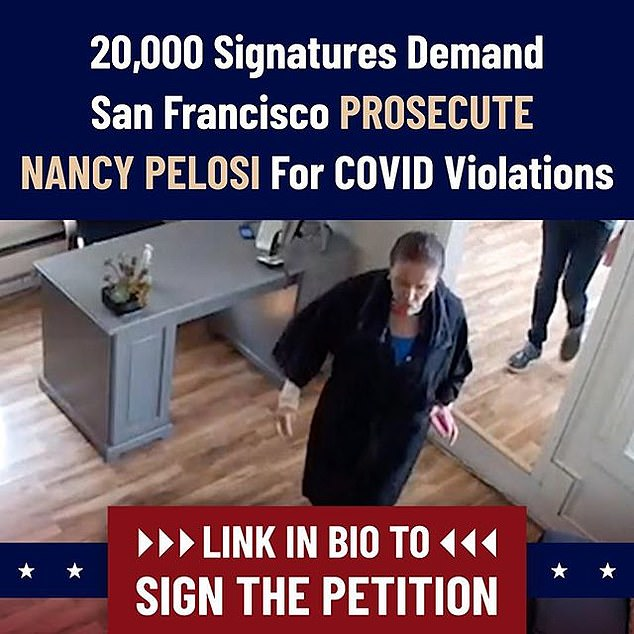 A petition has gained 16k signatures demanding Nancy Pelosi be prosecuted for