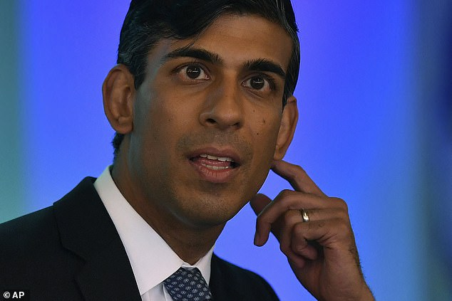 The decision not to go ahead with the increase to the national living wage from£8.72 to to £9.21 per hour in April would be announced by Chancellor Rishi Sunak (pictured) in the up-coming autumn budget if recommended by theLow Pay Commission