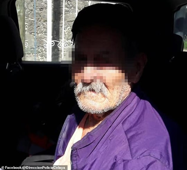 An 87-year-old man identified by the Celaya police as Bonifacio was safely removed from his 54-year-old daughter