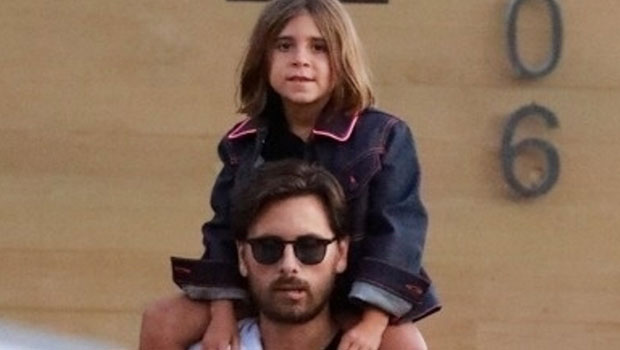Scott Disick Chaperones Cute Pool Party For Daughter Penelope, 8, & Niece North West, 7 — Pic