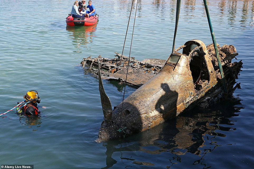 Second World War-era Bell P-39 Airacobra that crashed in 1943 raised from depths of the Black Sea
