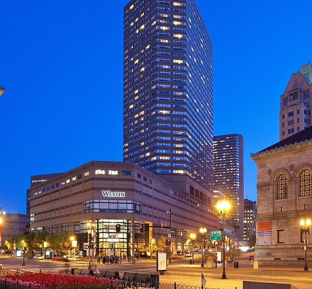 Northeastern University has reserved 11 floors of the Westin Copley Place (seen above), a luxurious Boston hotel, this semester for its students so that they can be socially distanced