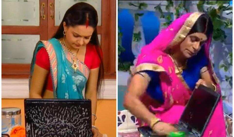 Sunil Grover turned 'Topi Bahu' for a new sketch onGangs of Filmistan.
