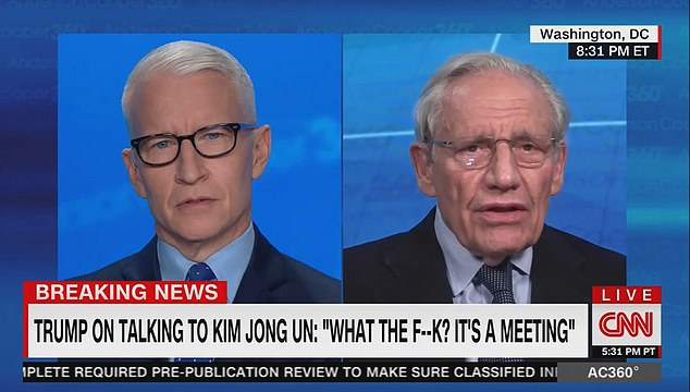 Trump told Woodward on December 5, 2019 about the shocked reaction to his meeting with Kim Jong-Un: