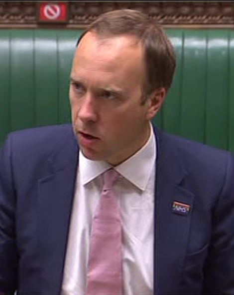 Health Secretary Matt Hancock was grilled in the Commons today over the