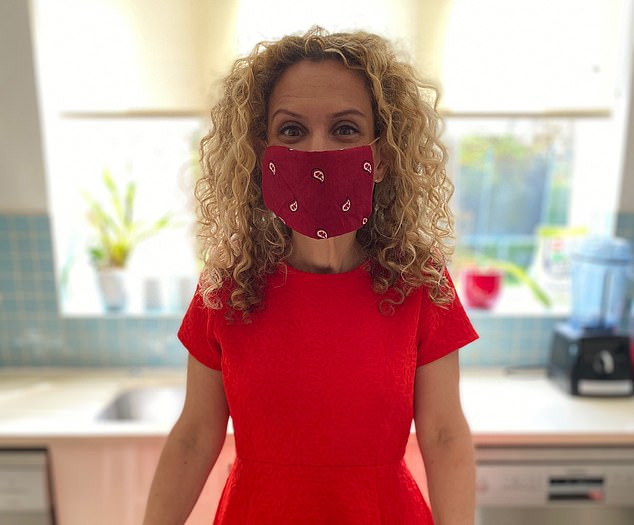 Dr Ellie Cannon, pictured, has been advising people to use face coverings to help to stop the spread of Covid-19. Now she believes the policy of social distancing is working