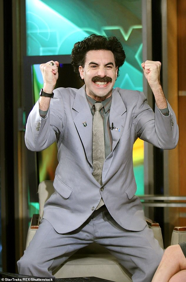 Quite the character: The original 2006 film featured Cohen playing his Borat character, which he first debuted on his hit TV series Da Ali G Show