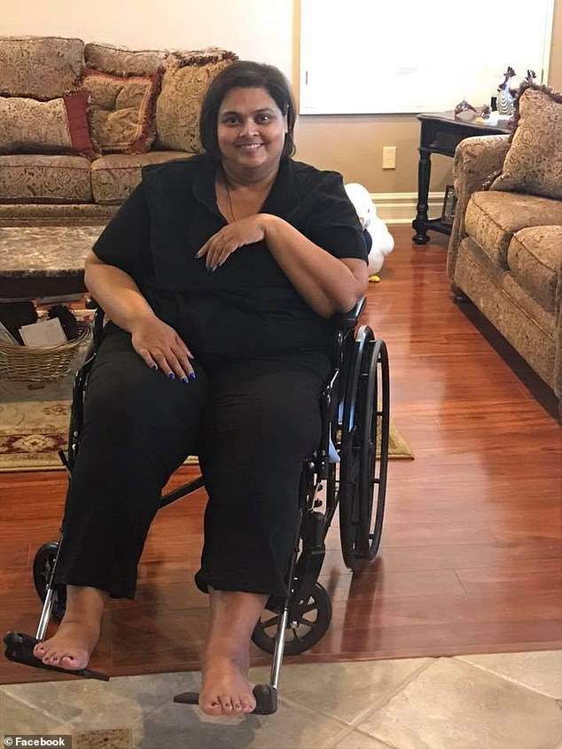 Arjune (pictured) died at a Las Vegas, Nevada, hospital on May 26 due to complications from her leg injury