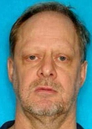 The gunman, Stephen Paddock (above), killed himself before police could make an arrest