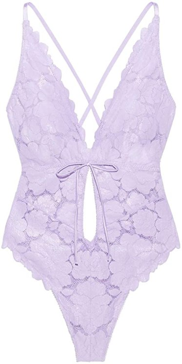 purple bodysuit