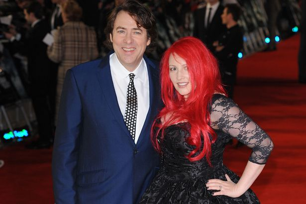 Jonathan Ross and Jane Goodman pose on the red carpet at The Woman In Black premiere in 2012