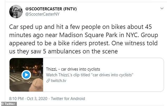 Another reporter explained that around five ambulances appeared on scene after the crash