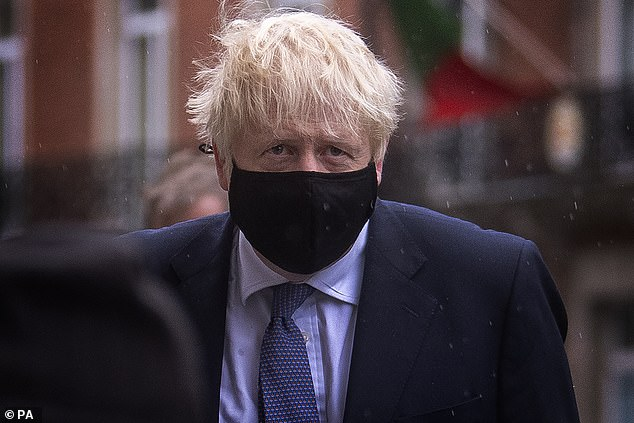 Boris Johnson (pictured arriving for an appearance on the BBC's Andrew Marr show today) dodged giving a full explanation as he was grilled on the extraordinary spike reported yesterday, with just under 13,000 new coronavirus cases