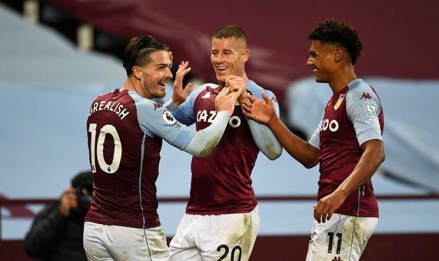 Aston Villa's Jack Grealish, Ross Barkley and Ollie Watkins celebrate