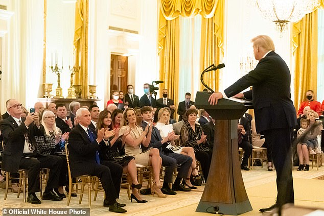 Pence was also seated front row at a Gold Star families event Sunday, September 27 where at least one person has tested positive for COVID-19. The vice president, however, wasn't seated close enough to the individual for him to fall under CDC's quarantine guidelines