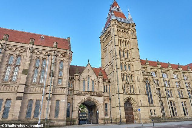 Manchester University (pictured), where there have been 382 coronavirus cases since September 21, joined with Manchester Metropolitan University and the University of Sheffield in announcing a move to online learning to protect the health of students and staff