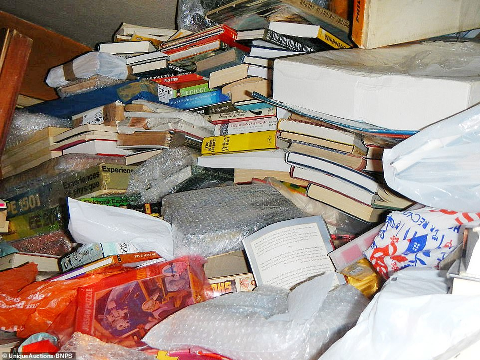 A lot of the items are in a brand new or pristine condition and haven't been opened or touched with the hoarder apparently storing them until his retirement