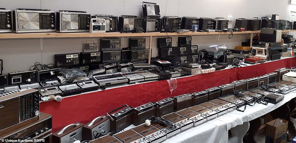 There are hundreds of items radio equipment and electronic equipment in the £4 million treasure trove collected from the home