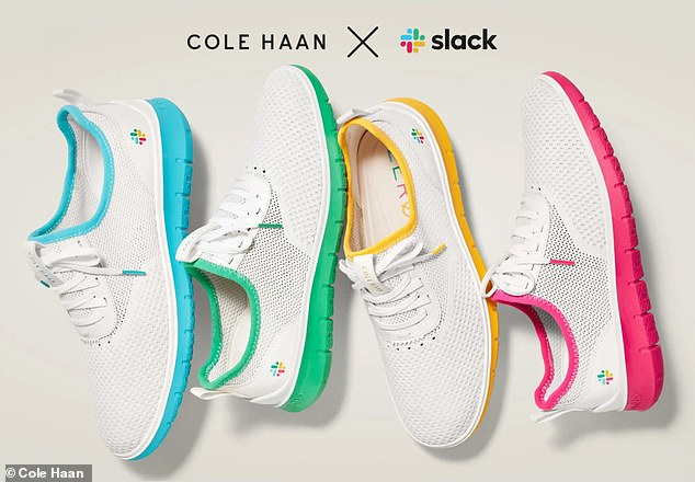Slack has partnered with Cole Haan on a limited edition series of sneakers available in the colors of the company's logo - blue, green, yellow and red.Retailing for $120, the Generation Zerøgrand is available online and in select Cole Haan stores starting today