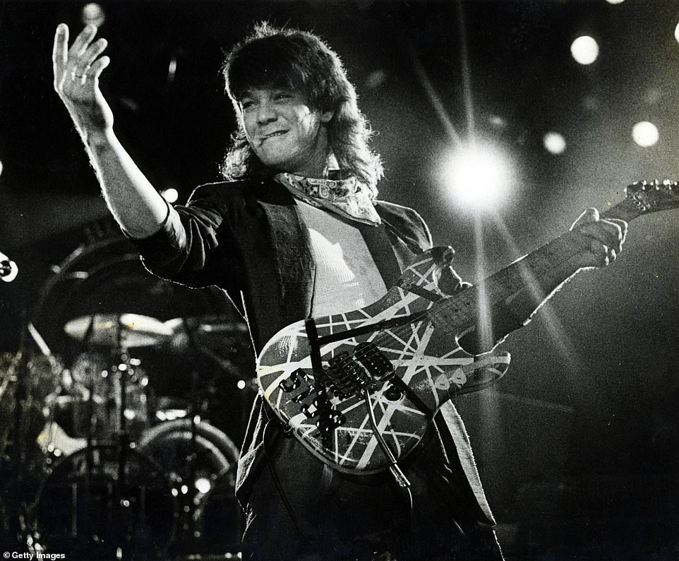 Eddie Van Halen, above, in 1980, performing with a cigarette in Hollywood, Florida.'Drink a bottle of booze, pop a couple 'ludes, smoke a joint or two (or ten) and see where the night takes you,' was the band's motto, according to their former manager's 2017 memoir. (The 'ludes refers to quaaludes.) He smoked weed, drank and used cocaine until he got sober in 2008