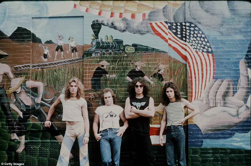 The band in 1978, the year they released their self-titled debut album. From left, David Lee Roth, Michael Anthony, Alex Van Halen and Eddie Van Halen. In the 1980s, the band was a success.After a woman claimed Van Halen was the father of his child and sued him, he reportedly told Monk: 'You know how I like a pretty face in my crotch.' Turned out Van Halen wasn't the father but Roth took it heart, claiming he need 'paternity insurance' to protect him from groupies, according to his memoir