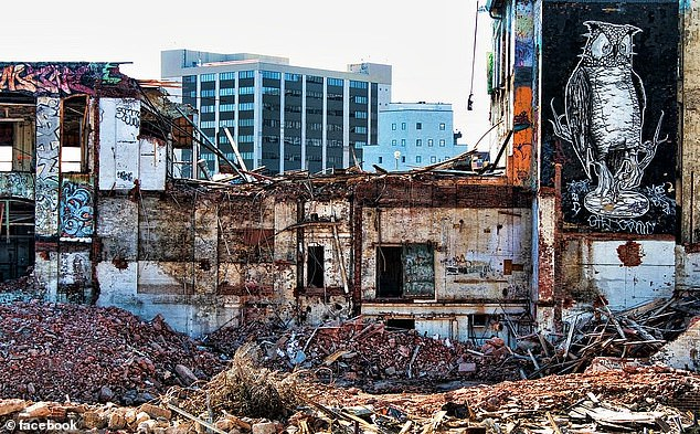 The warehouses were demolished in 2014 to make way for luxury apartment blocks