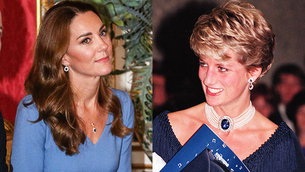 Kate Middleton Wears Sapphires Inspired By Princess Diana & 25 More Times She & Meghan Markle Emulated Diana