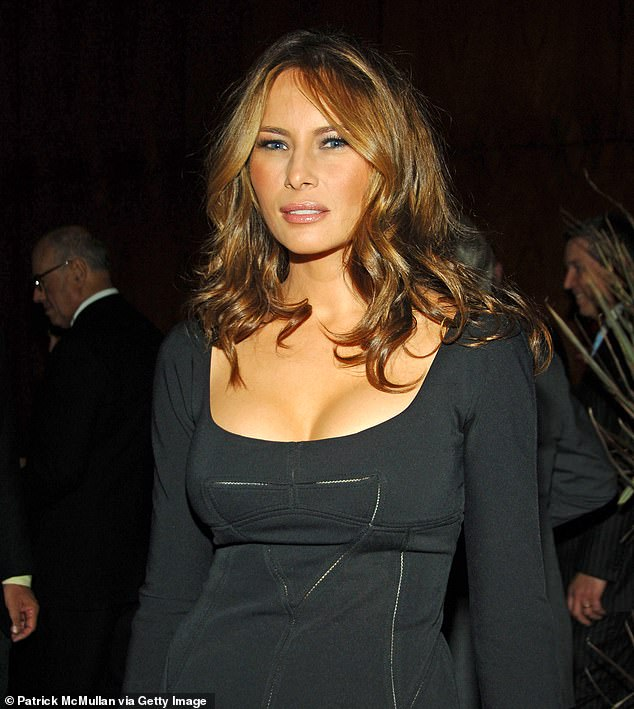 Stevens also revealed that after Trump had sex with McDougal in Trump Tower - behind Melania's back - he bizarrely showed her his personal photo albums featuring him and his wife and talked of her beauty