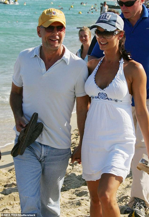 McDougal claims she began seeing Trump in June 2006, having unprotected sex dozens of times, with the romance ending in April 2007. But Stevens says the affair lasted much longer and it wasn't until the Playmate was photographed with Willis in Italy on vacation in August 2007 (pictured) that things came to a head