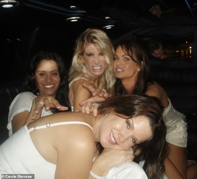 McDougal later sued and won the rights back and eventually came forward with her story as porn star Stormy Daniels - who also slept with Trump - launched a public campaign to get relief from her own non-disclosure agreement. Pictured: Stevens (front) with McDougal (right)