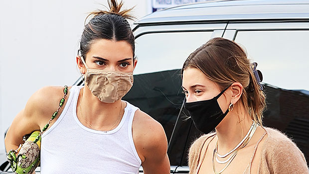 Kendall Jenner Stuns In Sheer Tank Top For Lunch Date With Hailey Baldwin — Pics