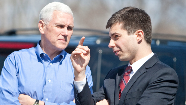 Pete Buttigieg Calmly Destroys Mike Pence With 'Porn Star' Diss In Epic Pre-Debate Chat — Watch