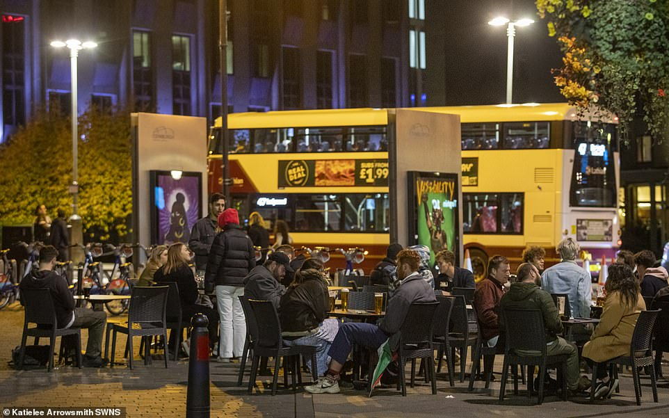 In Edinburgh people made the most of their last night of freedom before Nicola Sturgeon's measures were due to hit today