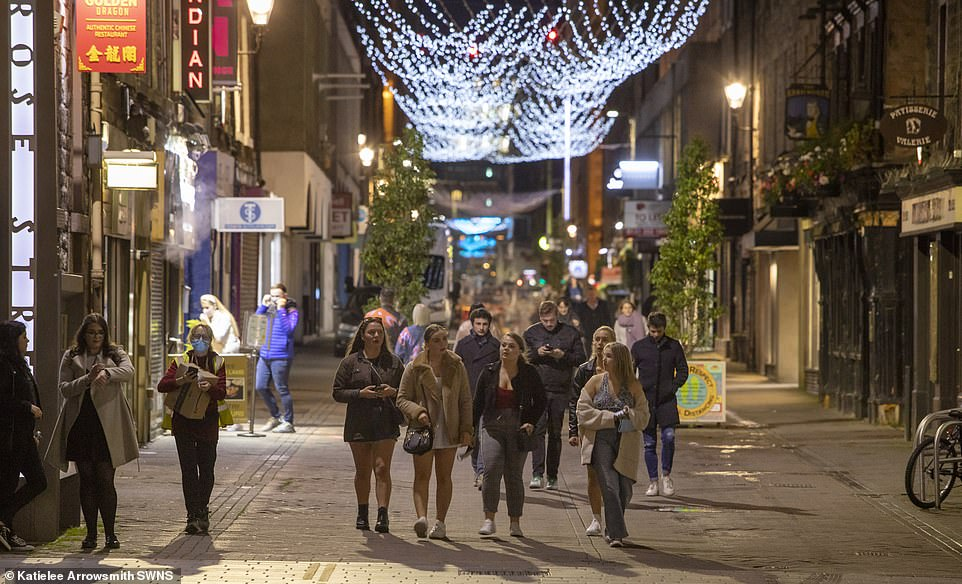 Groups walked home after their last drink in Edinburgh, bracing themselves for the 16 days of not being able to buy a pint inside a pub