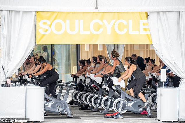 SoulCycle's outdoor class at Hudson Yards in New York City, which opened earlier this year