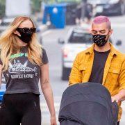 Sophie Turner shows off post-baby body as she Joe Jonas take newborn for stroll