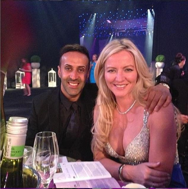 This week, it was revealed that Leeds-based Hussain, 40, has surrendered 45 properties and four plots of land in Cheshire, Yorkshire and London's Knightsbridge. Pictured: Hussain with lingerie tycoon Michelle Mone