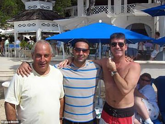 As for Hussain, his desperation to be photographed with actors, pop stars and tycoons, then post the images on Instagram and Twitterhas had far more damaging repercussions. Here he is pictured with Sir Philip Green and Simon Cowell