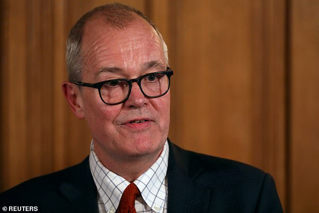 The Government's chief scientific adviser Sir Patrick Vallance said on March 12 (pictured that day) that 'we need to have immunity to protect ourselves in the future'